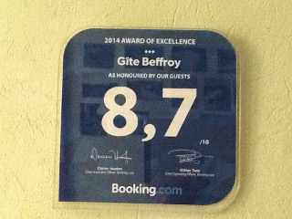 [Photo 2014 Booking award of excellence]